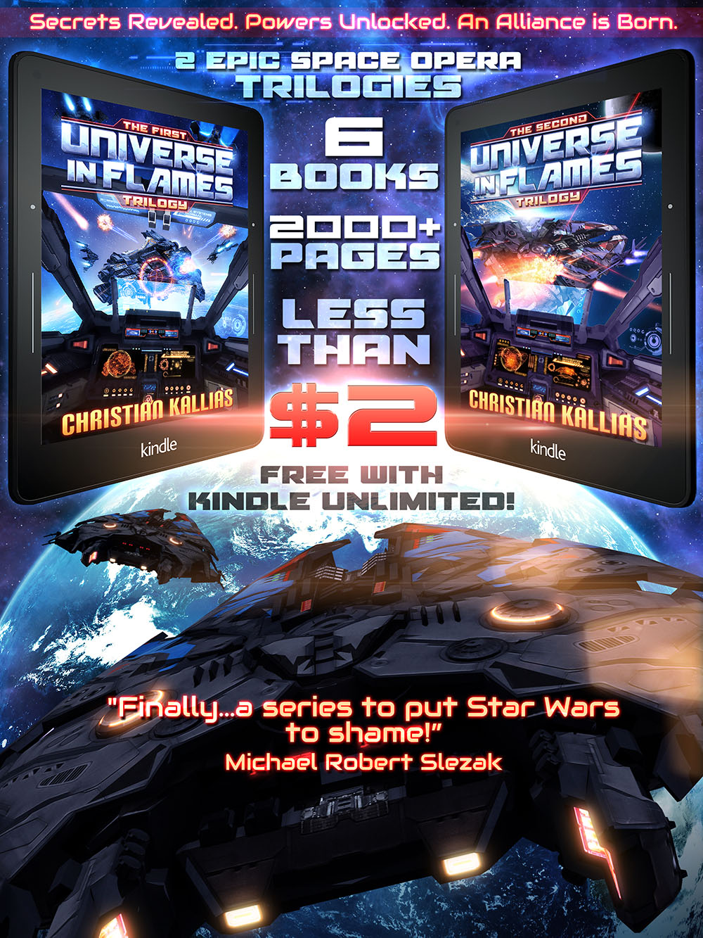 Christian Kallias books - universe in flames